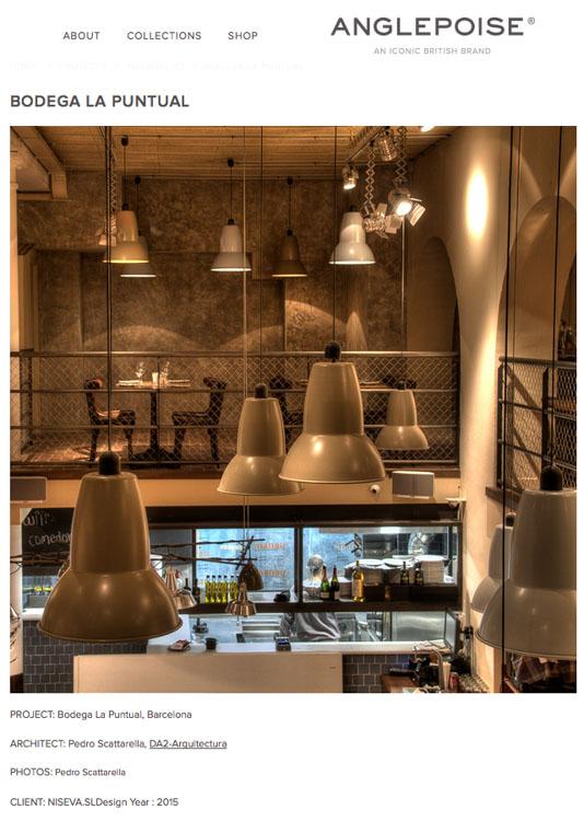 Diseno y decoracion de restaurante La puntual Iluminacion anglepoise Iluminacion anglepoise portada