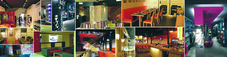 Ejemplos de decoración de espacios comerciales