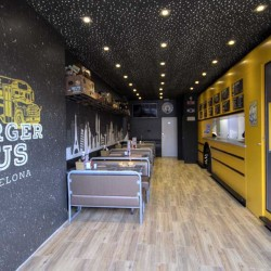 Food truck Burger bus vista general del local