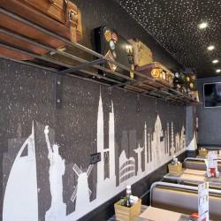 Food truck Burger bus detalle maletero