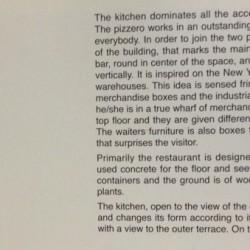 diseño y decoración de restaurante Los soprano Libro Space+ texto