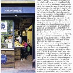 Dsieño y decoración restaurante Casa Guinart Revista Proyecto Contract pag 03