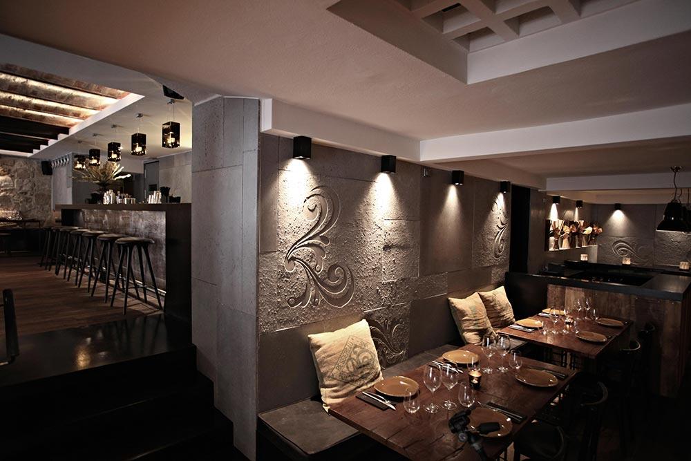 Dise o y decoraci n restaurante moderno koa palma de Diseno de interiores palma de mallorca