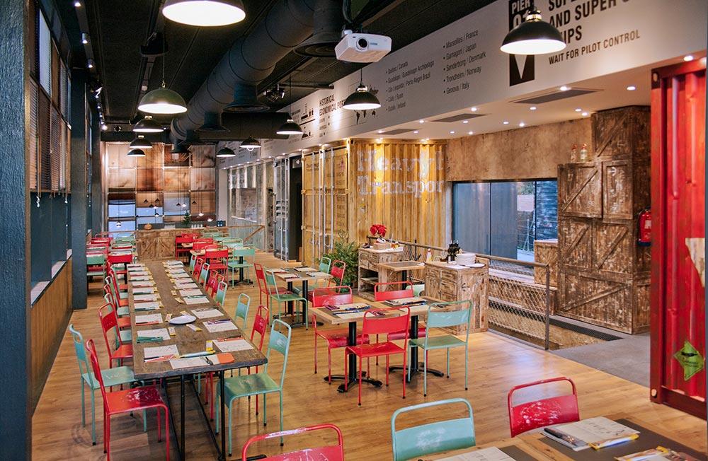 Dise o y decoraci n restaurante los soprano da2 for Disenos de interiores restaurantes