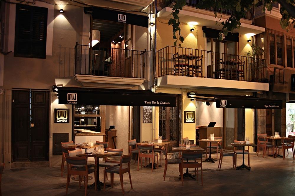 vista de la terraza del restaurante Ombú Palma de mallorca