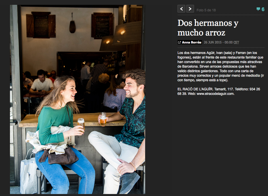 Diseno y decoración restaurante EL RACÓ DE L'AGUÏR foto portada