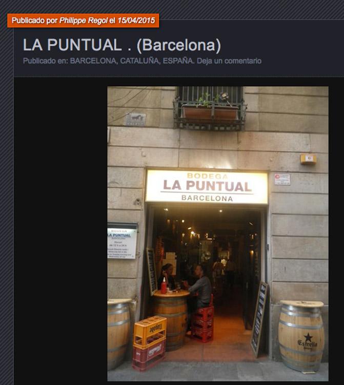 diseno y decoración de restaurante La puntual el comidista pportada