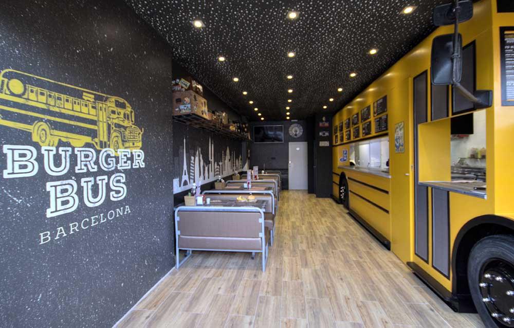Diseño de Food Truck Burger Bus Barcelona