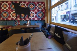 Diseño y decoración restaurante OLA TAPAS banco Sevilla