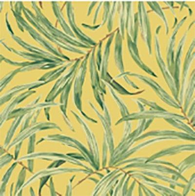 Motivos florales en los papeles pintados.