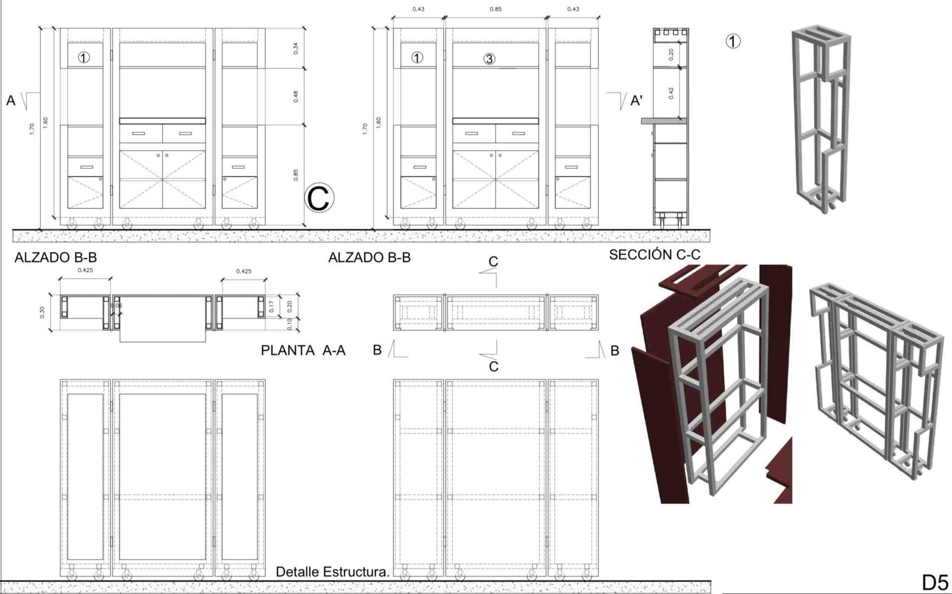 Detalle cosntructicvo de mobiliario