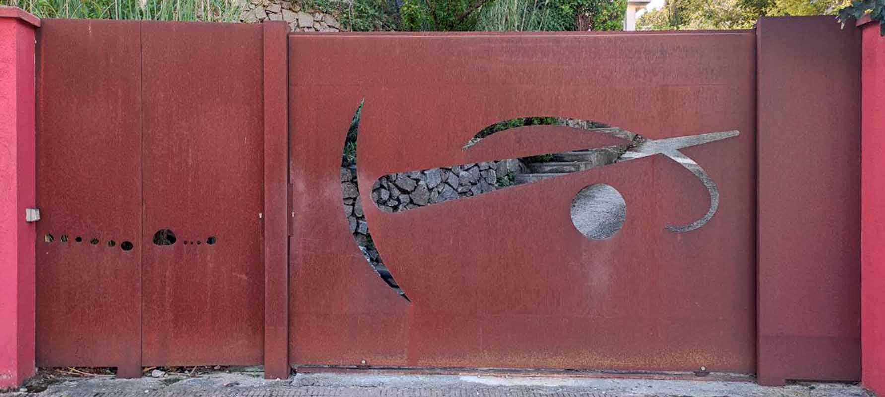 puertas de hierro modernas para exterior