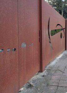 Puertas de hierro modernas para exterior Acero corten