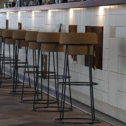 Vista barra pachwork 03 restaurante BOVINO GIJON Da2 Arquitectura