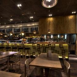 Vista de las mesas para restaurantes