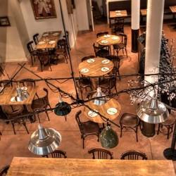detalle de lámparas Decoración Restaurante Bodega La Puntual 01