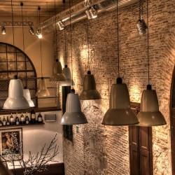 detalle de lámparas Decoración Restaurante Bodega La Puntual 02