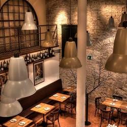 detalle de lámparas Decoración Restaurante Bodega La Puntual 03