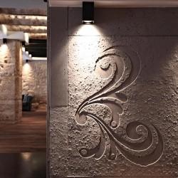 Hormigón en bajo relieve para los revestimientos de las paredes