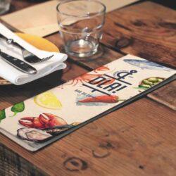 También realizamos el diseño de las cartas y menús