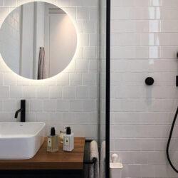 Diseño moderno de baños detalle espejo
