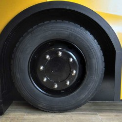 Food truck Burger bus detalle de ruedas