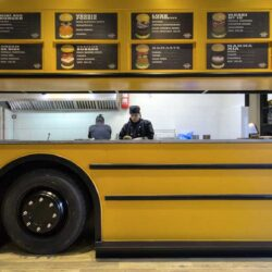 Food truck Burger bus detalle lateral bus