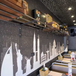 Food truck Burger bus detalle maletero