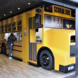 Food truck Burger bus vista general bus