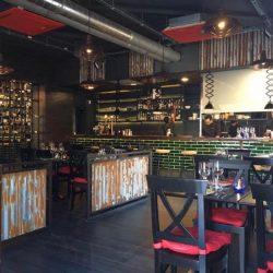 Reforma restaurante Vanda vista desde acceso