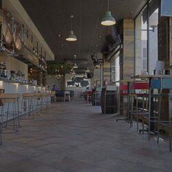 desde la entrada principal restaurante Bovino Gijón