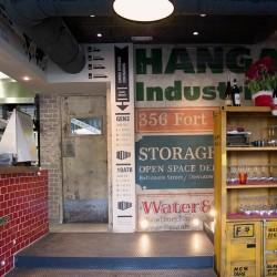 Decoración restaurante pizzería - diseño gráfico en paredes