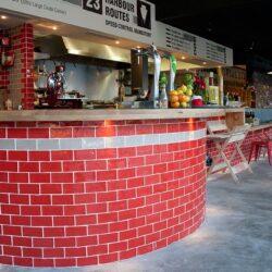 Diseño de barras para pizzería, detalle 03