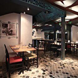restaurantes modernos vista del salón planta baja