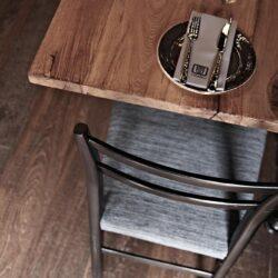 Detalle mobiliario en Restaurante tapas Ombú Palma de Mallorca.