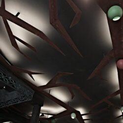 Diseño de techos modernos, acero corten