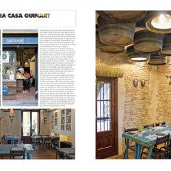 Dsieño y decoración restaurante Casa Guinart Revista Proyecto Contract pag 01